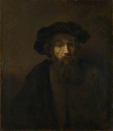 A Bearded Man in a Cap by Rembrandt van Rijn The National Gallery, London