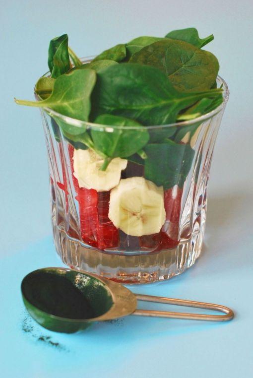 Strawberry Green Smoothie  #Smoothie #tuzubiberi
