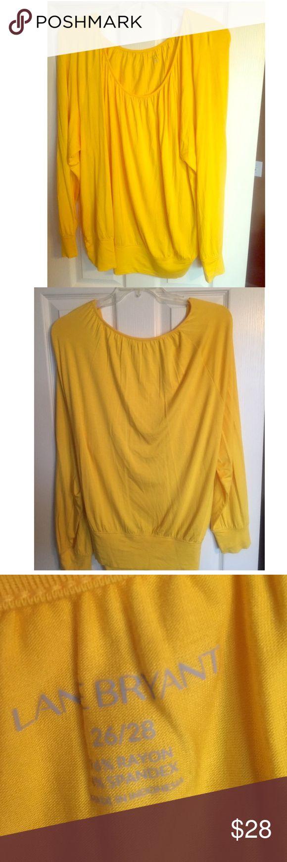 Lane Bryant yellow long sleeved top Never worn Lane Bryant yellow long sleeved top Never worn Size 26/28 Lane Bryant Tops Blouses