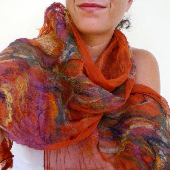 nuno felted scarf -imagine me & you-