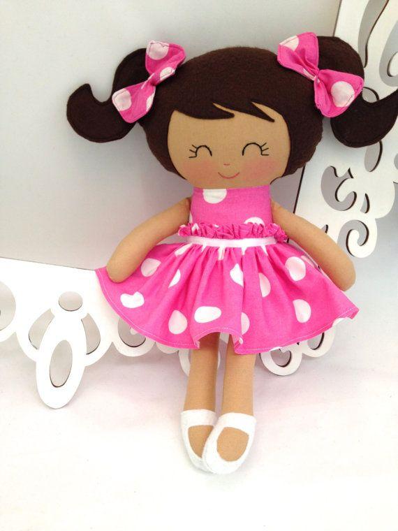 Cloth baby doll Handmade Dolls Fabric Dolls by SewManyPretties, $52.00 #birthdaygirl