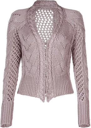 ShopStyle: Clare Tough Rosewood Cable Short Cardigan