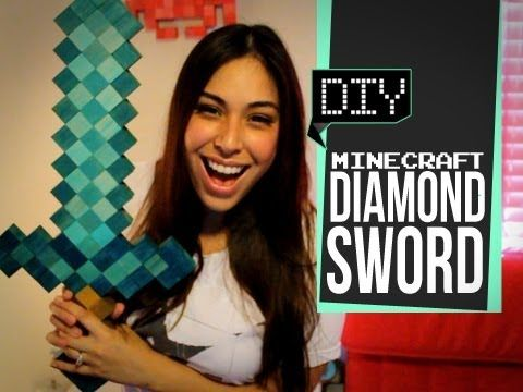 Minecraft Diamond Sword - DIY GG      Twitter - @ihascupquake  Instagram - @tiffyquake    This video will show you:  How to make a diamond sword in real life  How to make diamond  How to do it yourself      Music - B4bbs - http://www.youtube.com/user/Babbingtn/videos    Buy wooden cubes here! - http://www.barclaywoods.com/craft_parts.htm