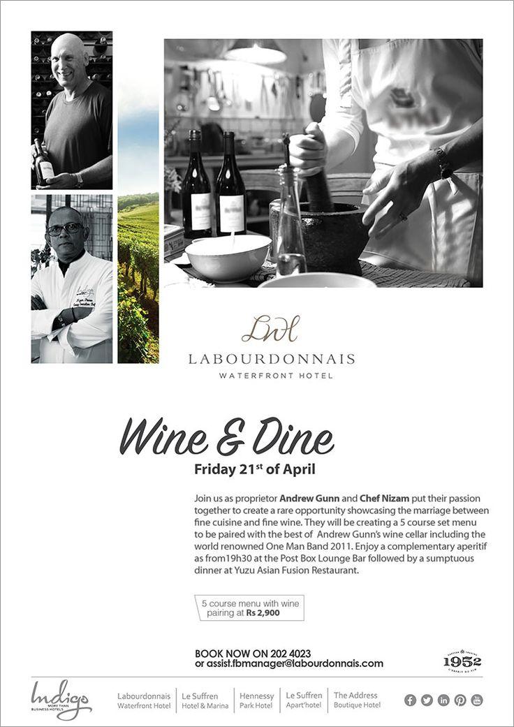 Labourdonnais Waterfront Hotel - Wine & Dine at Yuzu Asian Fusion Restaurant. Tel: 202 4023
