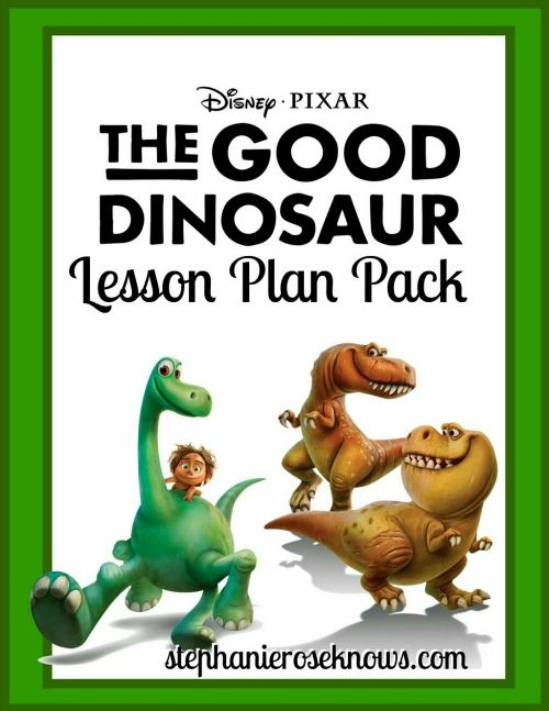 Add a little fun to your Homeschool day with the 10 page The Good Dinosaur Lesson Plan Pack