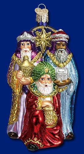 Three Wise Men, Glass Ornaments from Merck's Old World Christmas #glass #ornaments #Christmas