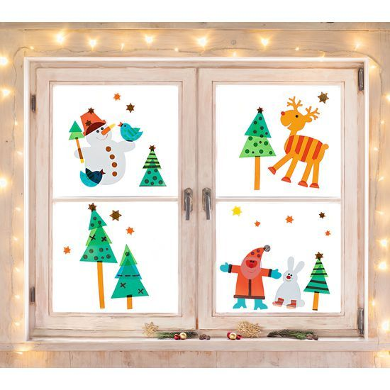christmas window pictures  window stickers  tinker with