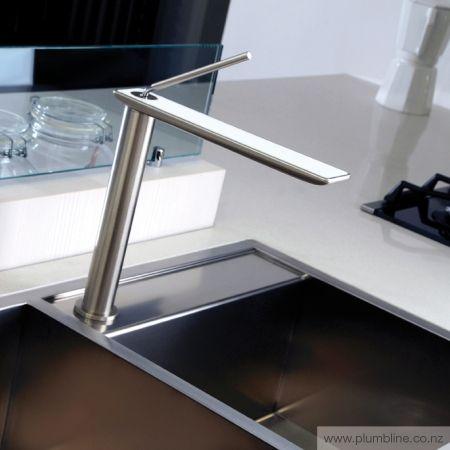 iSpa Kitchen Mixer With White Spout - Kitchen Tapware - Kitchen