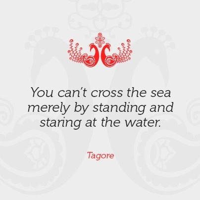 Indian Quote #sea #Tagore