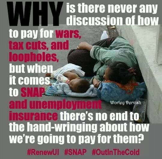 Why is there no need to find a way to pay for the assistance given to the rich people who could actually afford to pay for themselves?