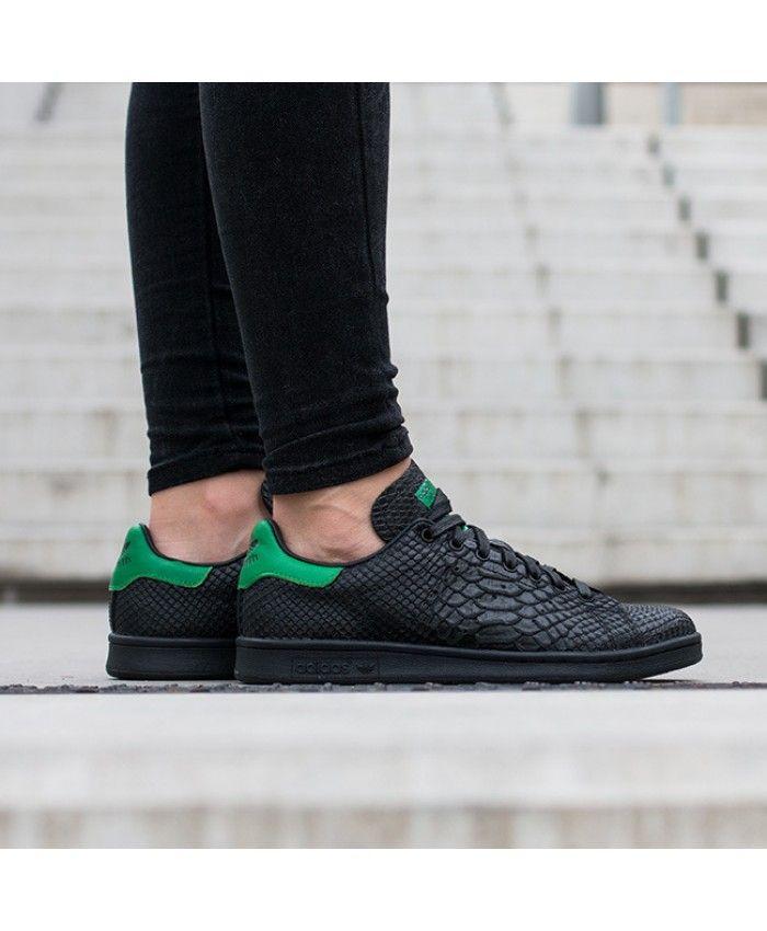 factory price 990e0 312d9 Adidas Australia Originals Black Stan Smith Snake Trainers ...
