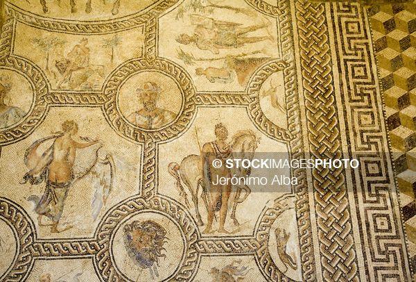 mosaico romano en el palacio de benameji museo historico municipal ecija sevilla