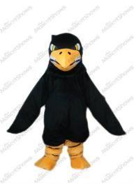 Aigle Noir A Longue Laine Mascotte Adulte Costume ...
