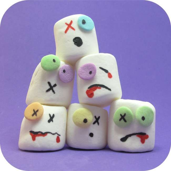 Zombie Marshmallows; these are adorable!