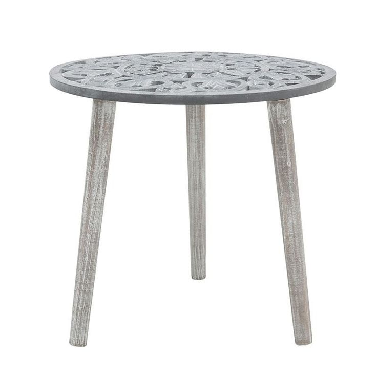 WOODEN TABLE IN GREY COLOR 48X48X45 - Coffee Tables - FURNITURE