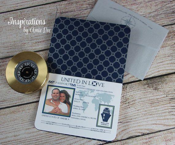 Passaporto inviti inviti passaporto di InspirationsbyAmieLe