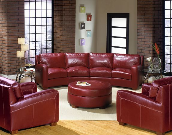 2950 Leather Sectional Sofa By USA Premium Leather