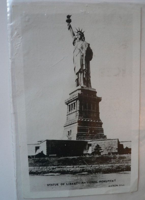 Vintage Postcard Statue of Liberty 1952 New York by Tasteliberty, $10.00