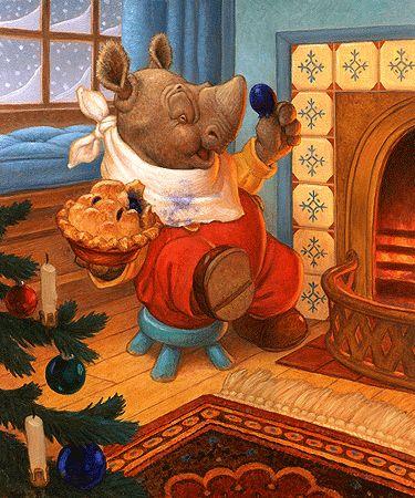 """Little Jack Horner"": L'Wren Scott, Jack Hornerbi, Artists Scott, Canvas, Horner Sat, Scott Gustafson Art, Jack O'Connel, Hornerbi Scott, Christmas Pies"