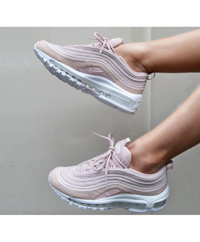 Nike Air Max 97 Trainers In Pink Snakeskin Sneakers Fashion Womens Sneakers Leather Shoes Woman