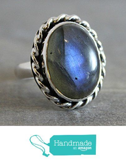 Oval Cabochon OOAK Labradorite Sterling Silver Ring, size 7 from Sophia Rose Jewellery https://www.amazon.com/dp/B01M0JFND8/ref=hnd_sw_r_pi_dp_fHJ.xbNM1SV46 #handmadeatamazon
