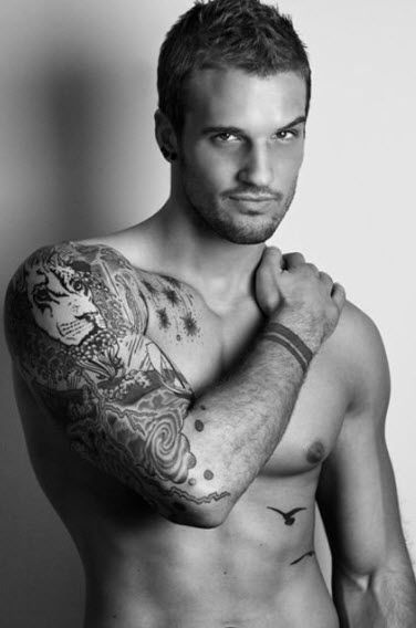 love guys with tattoos!Birds Tattoo, Parker Hurley, Parkerhurley, Sleeve Tattoo, Book Boyfriends, Lion Tattoo, Hot, A Tattoo, Beautiful Disasters