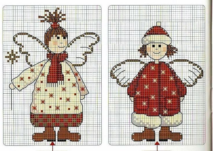 [renkli+melekelr+(9).bmp]Point, Renklimelekelr9Bmp, Cross Stitch, Embroidery Crosstitch, Crosses Stich, Christmas Angels, Crosses Stitches, X Stitches, Cross