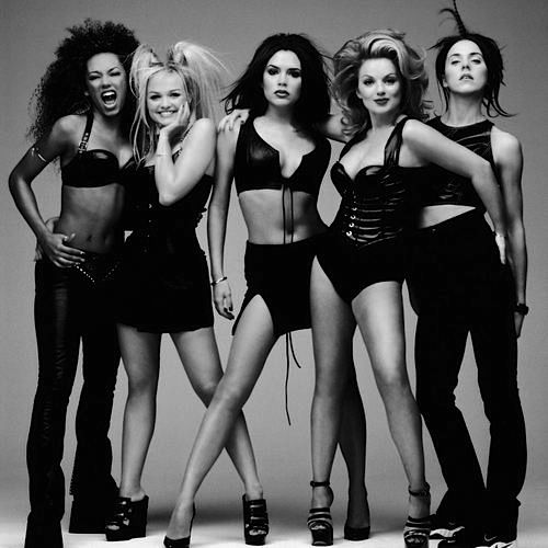 The Spice Girls are a British pop girl group formed in 1991. The group comprised five members, who each later adopted nicknames initially ascribed to them: Melanie Brown, Melanie Chisholm, Emma Bunton, Geri Halliwell, and Victoria Beckham.