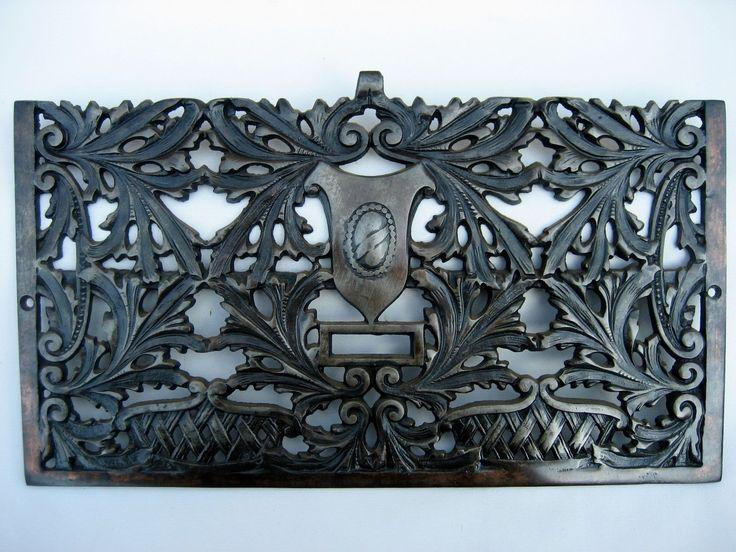 Details About Victorian Antique Cast Iron Heat Floor Grate