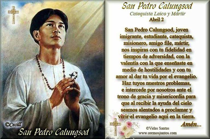 Vidas Santas: Estampita y Oración a San Pedro Calungsod, Catequi...