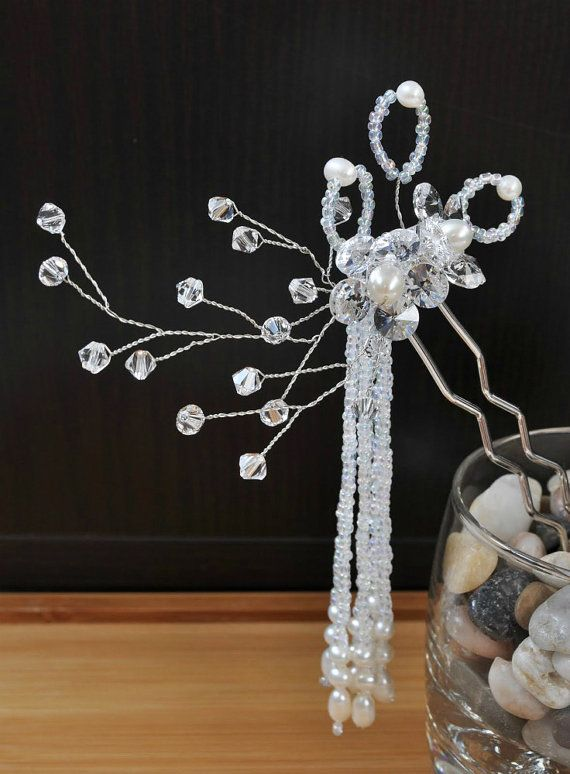 Bridal Hair Accessories  Asianinspired crystal by GlowingFireflies, $45.00