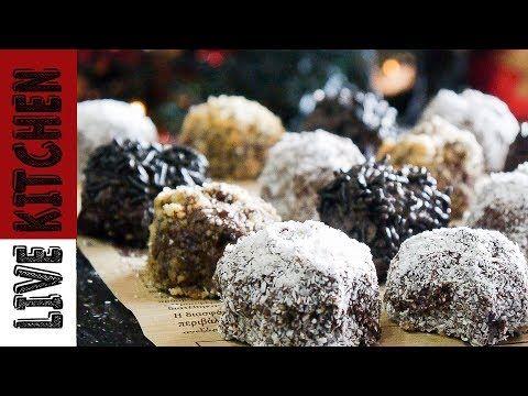 Τρούφες σοκολάτας (Νηστίσιμες) How To Make Vegan Chocolate Truffles - Live Kitchen - YouTube