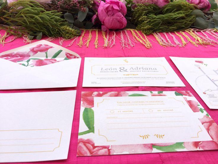 #invitacionesdeboda 'La Virginia' es la segunda colección de #papeleriadebodas de #Loveratory. Encierra la esencia de Andalucía. Flores, siesta, azahar, el rumor de una fuente, el blanco de las fachadas encaladas, el dorado del sol, la alegría, la calma, todo eso es 'La Virginia'. #weddingstationery #invitacionesdeboda2016 #flowers #peonias #invitacionesdeboda2017 #invitacionesdeboda #andalusianwedding  #meserosdeboda #weddingbranding #brandingddeboda #sobresforrados #invitacionesdeacuarela