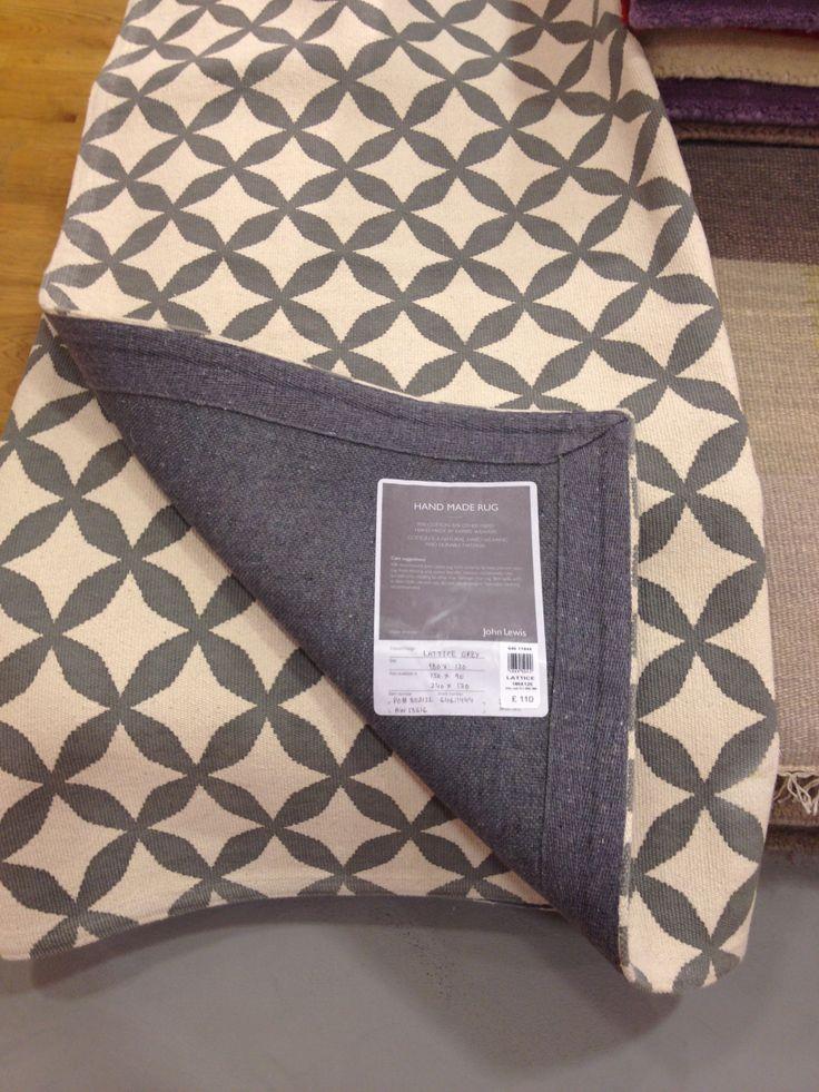 John Lewis Lattice Grey rug Product number 64611444