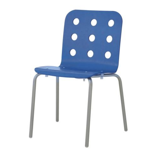 JULES Visitor chair - blue/silver color - IKEA