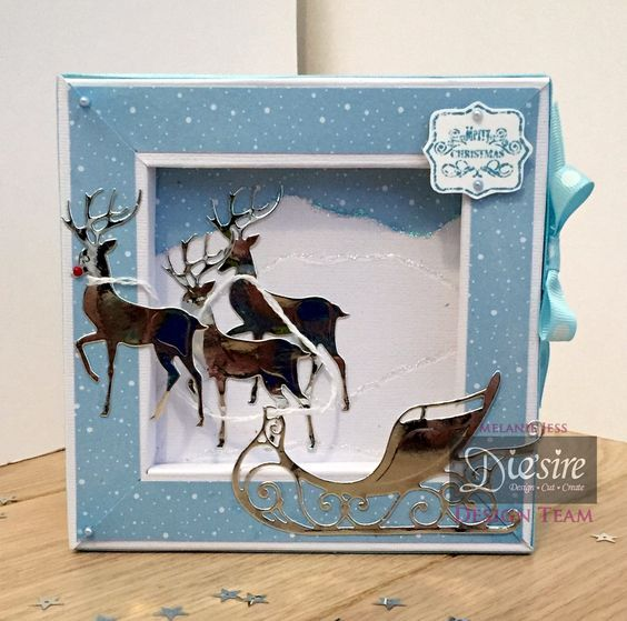 Frame Card made using Sara Signature Contemporary Christmas Collection - At…