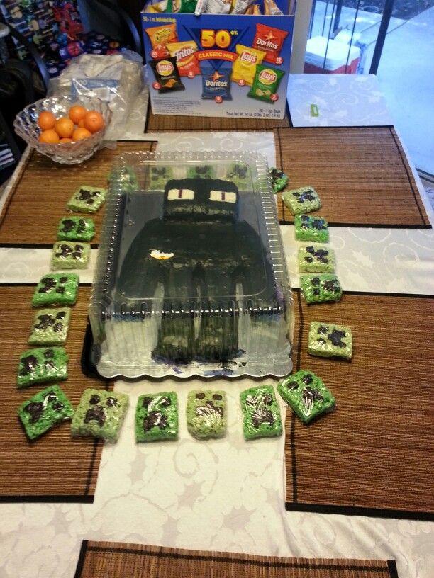 Minecraft Enderman Cake Minecraft Pinterest Cakes