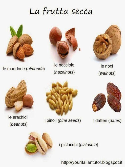 La frutta secca / The dried fruit #learnitalian #vocabulary