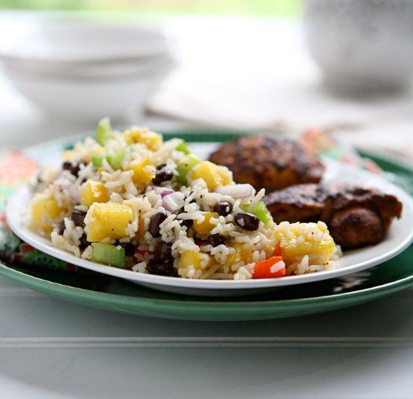 Jamaican Rice Salad: Easy Recipe, Salad Recipes, Black Beans, Healthy Salad Recipe, Red Onions, Food, Jamaican Rice, Rice Salad, Red Belle Peppers
