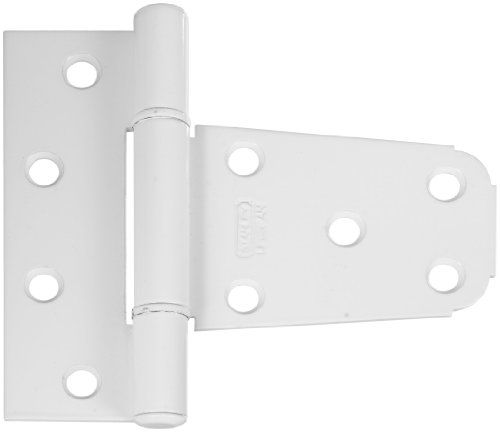 "Stanley National Hardware CD1508 3-1/2"" Gate Hinge. Hinges come in durable and popular metal finishes and the revolutionary polymer technology that is an optimal solution for gates in high corrosion susceptible areas such as pools. White. Whether you need a gate hinge for a traditional or modern, wood or vinyl gate, we have you covered. Rust resistant. Stanley-National Hardware has been a leading manufacturer of hardware for more than a century. 3-1/2"" Gate hinges."