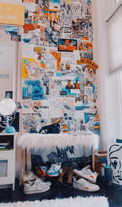 College Dorm Room Ideas Blue