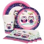 Owl party supplies.