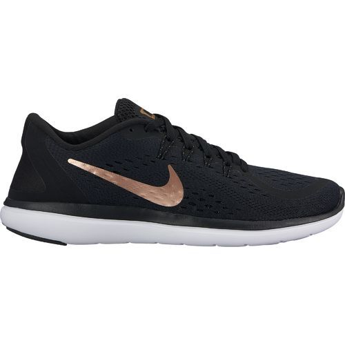 Nike Women's Metallic Flex 2017 RN Running Shoes (BlackGold
