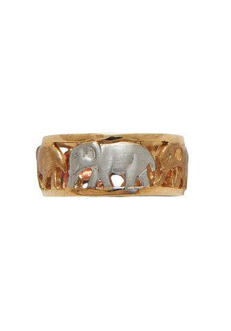 01-359 9ct Yellow, Rose, White Gold Elephant Ring