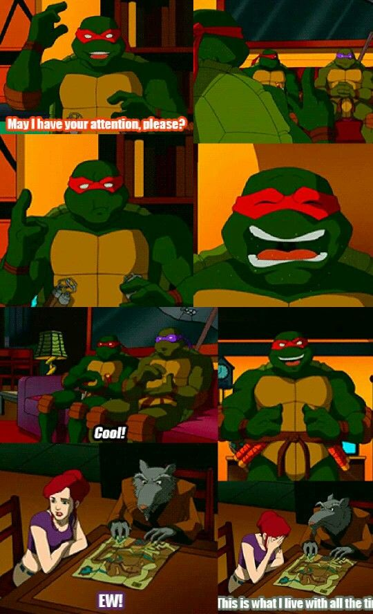 Poor Master Splinter!!!! there is no way I could live like that for that long !!!!