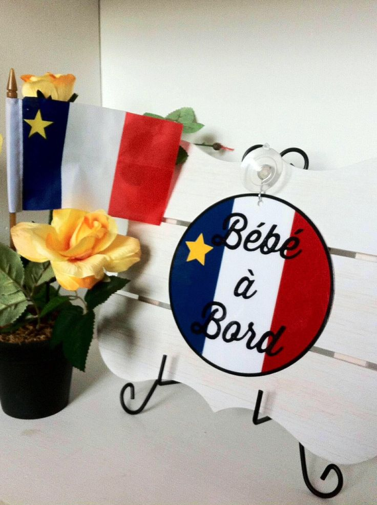 French baby gifts, french baby, french gifts, baby gifts, bébé à bord, french baby shower, acadian, baby on board, baby on board sign