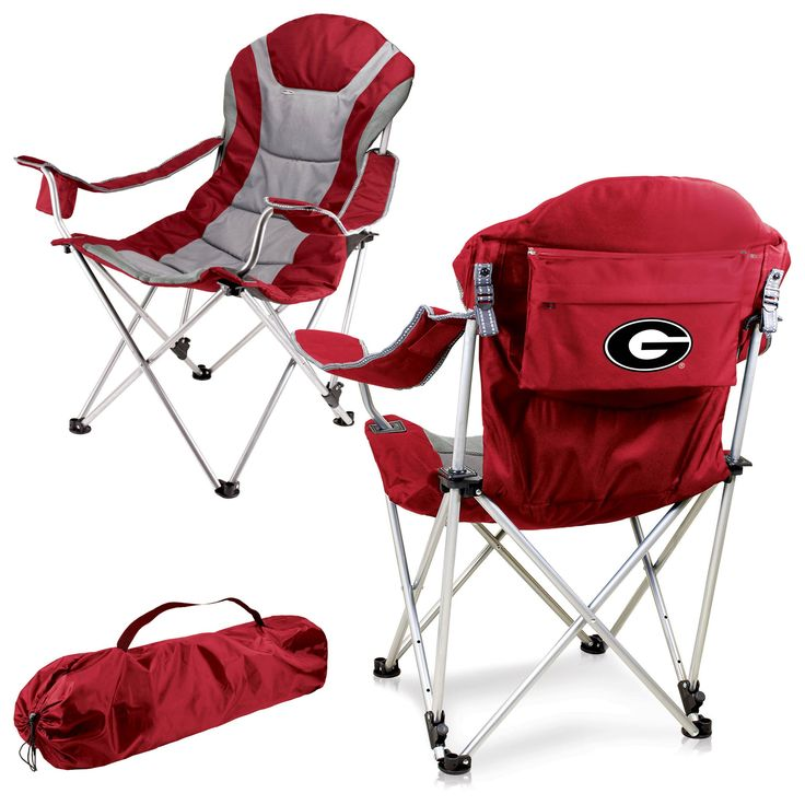 Bulldogs reclining camp chair by picnic time