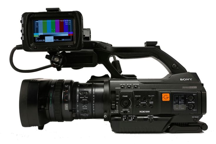 Sony PMW-300 With an inbuilt shoulder pad we love this camera for on the go shooting!