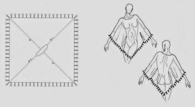 Moda e Dicas de Costura: PONCHO FÁCIL DE FAZER - 1