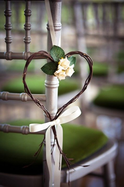 Wedding #ceremony chair decorations